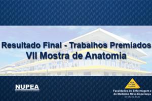 NUPEA divulga o Resultado Final dos Trabalhos Premiados na VII Mostra de Anatomia