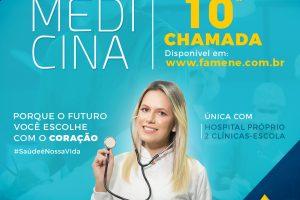 EDITAL REFERENTE À DÉCIMA CHAMADA DO PROCESSO SELETIVO VESTIBULAR 2019.1 – FAMENE
