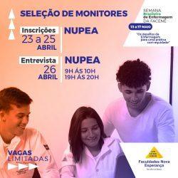 Facene abre inscrição para monitoria na Semana Brasileira de Enfermagem