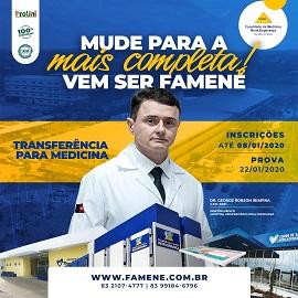 FAMENE DIVULGA GABARITO DE TRANSFERÊNCIA EXTERNA DE MEDICINA – FAMENE 2020.1