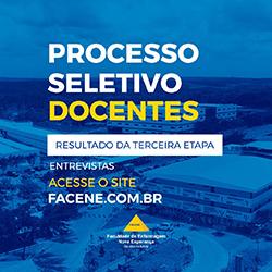 PROCESSO SELETIVO DOCENTES – TERCEIRA ETAPA