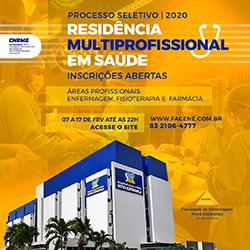 EDITAL DE CONVOCAÇÃO – RESIDÊNCIA MULTIPROFISSIONAL FACENE – 2020