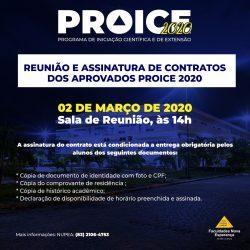 NUPEA CONVOCA APROVADOS DO PROICE 2020