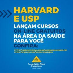 Harvard e USP disponibilizam cursos gratuitos durante quarentena por coronavírus.
