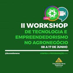 AGRONOMIA: cONFIRA A Programação do II Workshop de Tecnologia no Agronegócio