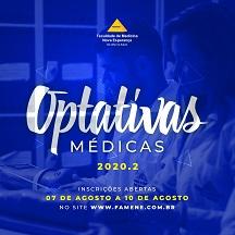 COORDENAÇÃO DA FAMENE DIVULGA AS DISCIPLINAS OPTATIVAS 2020.2
