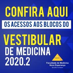 Vestibular de Medicina 2020.2 – Confira os acessos aos blocos de prova