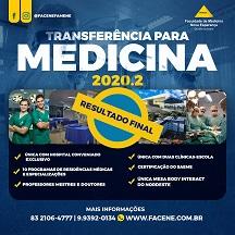 EDITAL DE CONVOCAÇÃO – PROCESSO SELETIVO PARA INGRESSO POR TRANSFERÊNCIA EXTERNA – 2020.2 PARA MEDICINA