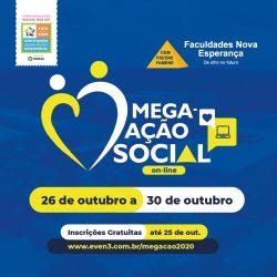 A Mega-Ação Social 2020 será no formato on-line