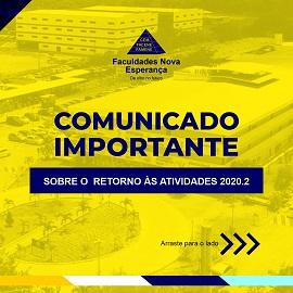 COMUNICADO IMPORTANTE – SOBRE O RETORNO ÀS ATIVIDADES 2020.2