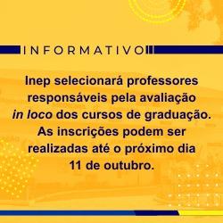 CHAMADA PÚBLICA DE SELEÇÃO DE DOCENTES DA EDUCAÇÃO SUPERIOR PARA INGRESSO NO BANCO DE AVALIADORES DO SINAES (BASIS)