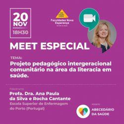 MEET ESPECIAL MESTRADO: Projeto pedagógico intergeracional comunitário na área da literacia em saúde