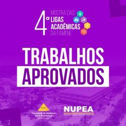 NUPEA divulga lista de trabalhos aprovados para 4ª Mostra de Ligas Acadêmicas da FAMENE
