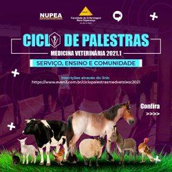 NUPEA abre inscrições para o I Ciclo de Palestras do curso de Medicina Veterinária