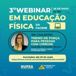 NUPEA ABRE INSCRIÇÕES PARA 3º WEBINAR EM EDUCAÇÃO FÍSICA DA FACENE
