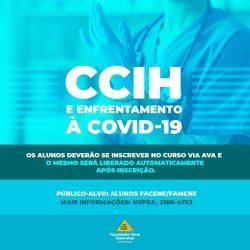 INSCRIÇÕES ABERTAS: curso de CCIH e Enfrentamento à COVID-19