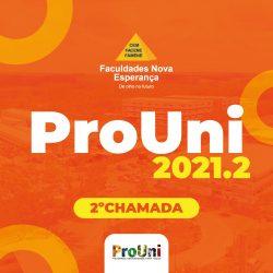 PROUNI 2021.2: RESULTADO DA 2º CHAMADA