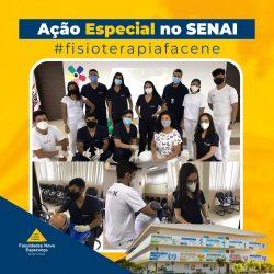 Alunos de Fisioterapia da Facene participam de ação na SIPAT do SENAI PARAÍBA