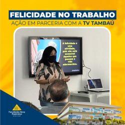 FACULDADES NOVA ESPERANÇA REALIZAM PALESTRA DE FELICIDADE NO TRABALHO NA REDE TAMBAÚ DE COMUNICAÇÃO
