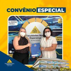 Prefeitura de Bananeiras assina convênio que garante descontos nos 09 cursos da Facene para servidores municipais.