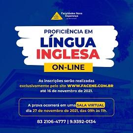 FACENE LANÇA EDITAL DE PROFICIÊNCIA EM LÍNGUA INGLESA