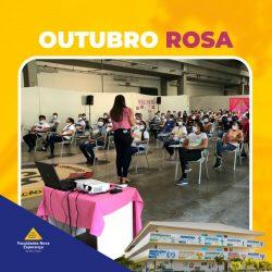 Outubro Rosa: Faculdades Nova Esperança levam orientações para colaboradoras da Coteminas