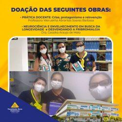 Biblioteca da Facene/Famene recebe doação de livros